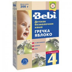 Bebi terci f/lapte hrisca+mar 200gr