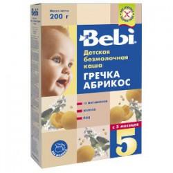 Bebi terci f/lapte hrisca+caise 200gr