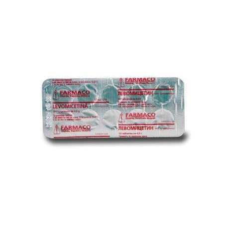 Levomicetin comp 500mg N10 (Farmac