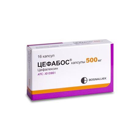 Cephabos 500 mg N16 caps.