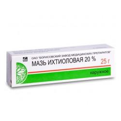 Ihtiol ung 20% 25g (Borisov)