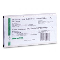 Lidocaina h/ch amp 2% 2ml N10 (Farm