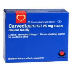 Carvedigamma 25 mg N30 tab